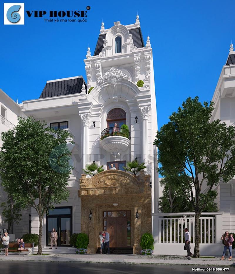 Thiết kế nhà phố tân cổ điển đẹp mãn nhãn tại Vĩnh Phúc
