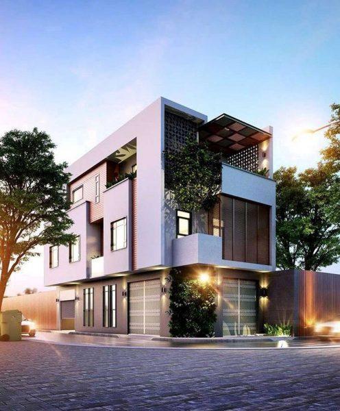Những lý do nên thiết kế nhà phố 3 tầng hai mặt tiền