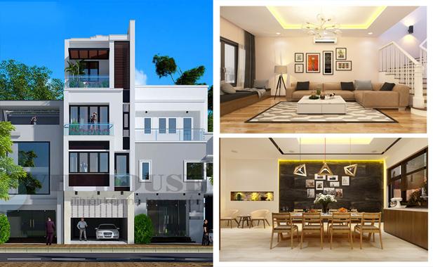 Tham khảo mẫu thiết kế nội thất hiện đại đẹp cho nhà phố 4 tầng