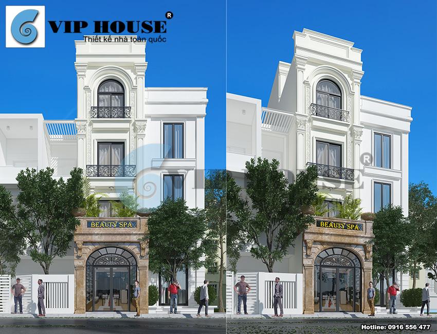 Tư vấn thiết kế nhà phố tân cổ điển 4 tầng đẹp với mặt tiền nhỏ