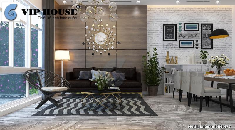 Không gian nội thất hiện đại cho nhà phố đẹp tại Mỹ Đình