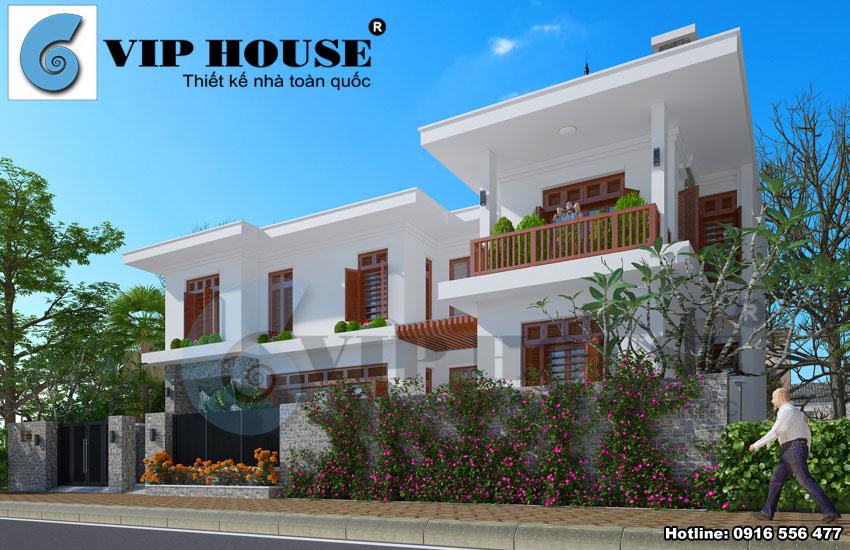 Mẫu thiết kế biệt thự hiện đại 2 tầng tại Hà Nội