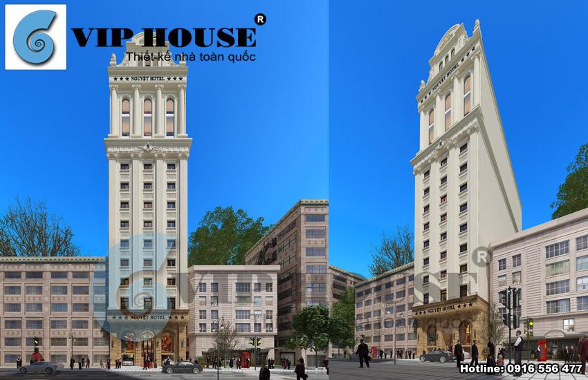 Thiết kế khách sạn kiểu Pháp 16 tầng tại Hà Tĩnh