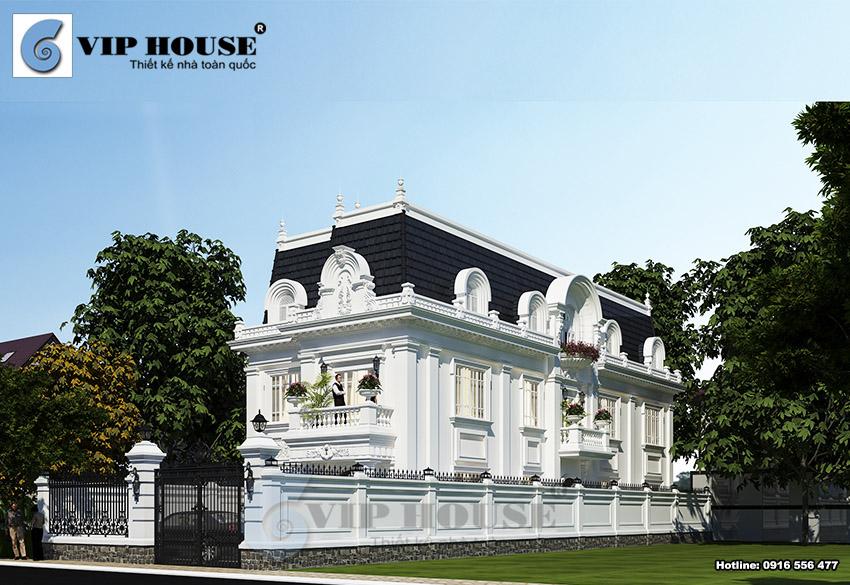 Hình ảnh: Biệt thự 3 tầng tân cổ điển kiểu Pháp mặt tiền 10m