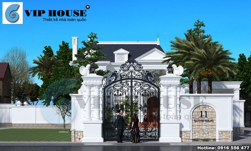 Thiết kế cảnh quan sân vườn cho ngôi biệt thự kiểu Pháp