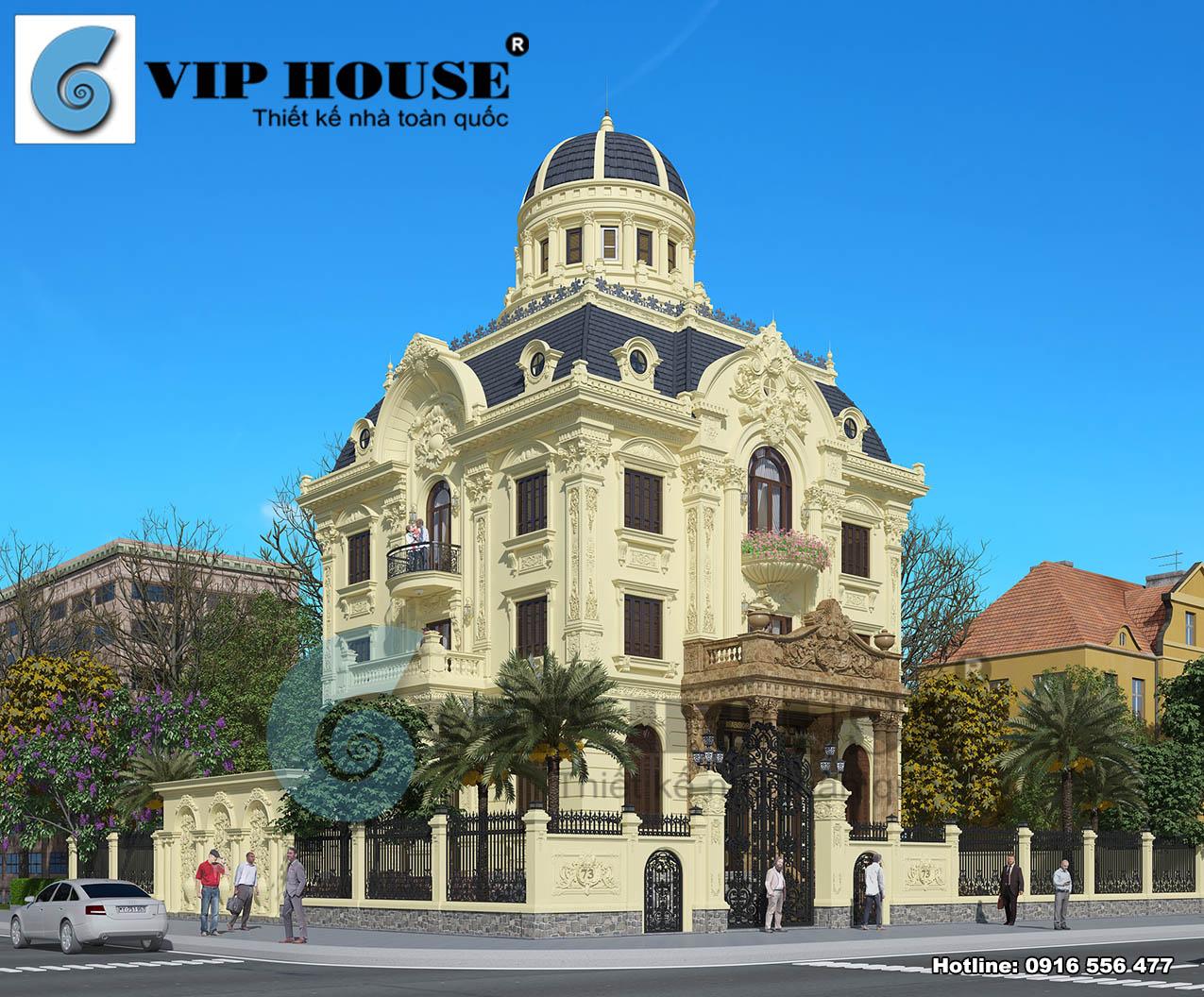 Nét đẹp của biệt thự kiểu Pháp 3 tầng 1 tum tại Ninh Bình