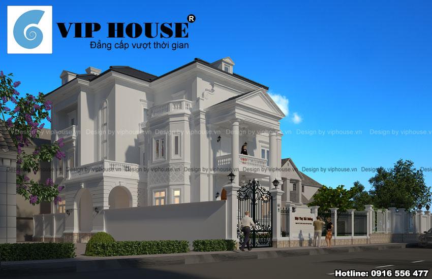 Thiết kế biệt thự kiểu Pháp đẹp mãn nhãn tại Huế