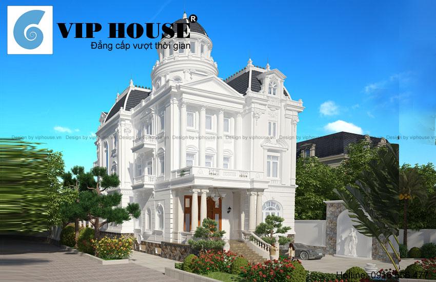 Tham khảo thiết kế biệt thự kiểu Pháp 5 tầng đẹp tại Vũng Tàu
