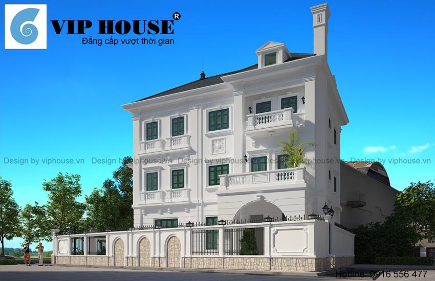 Đắm say với vẻ đẹp của biệt thự kiểu Pháp 3 tầng tại Hồ Tây - Hà Nội