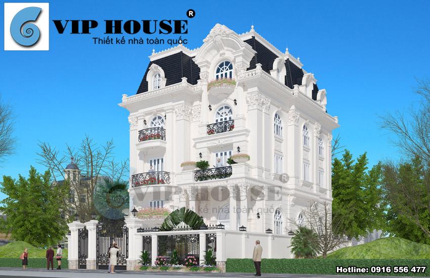 Tư vấn thiết kế biệt thự kiểu Pháp cổ điển đẹp tại Hải Phòng