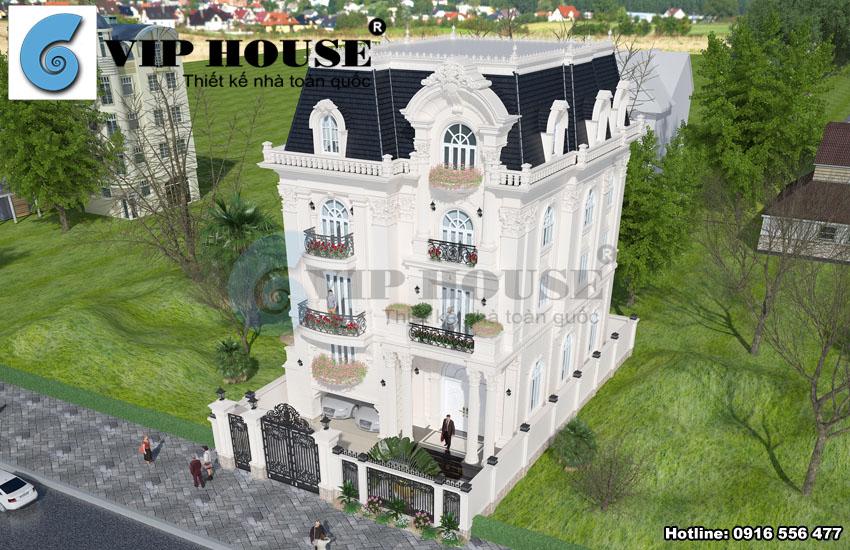 Vẻ đẹp ấn tượng từ biệt thự kiểu Pháp cổ điển tại Hải Phòng