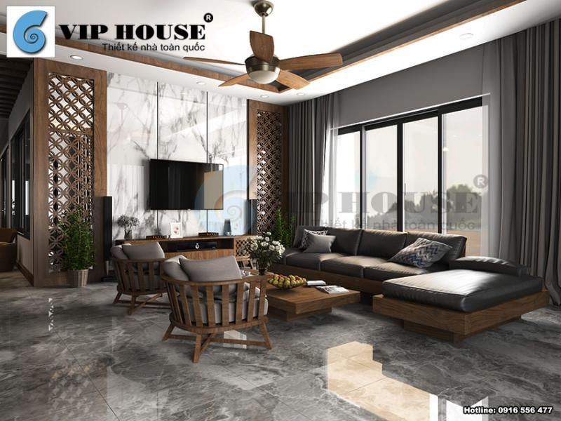 Vẻ đẹp của thiết kế nội thất phòng khách hiện đại Á Đông tại Lạng Sơn