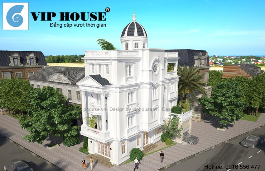 Sức hút của thiết kế biệt thự kiểu Pháp 4 tầng tại Vĩnh Phúc