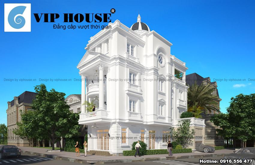Vẻ đẹp ẩn chứa sự sang trọng trong thiết kế biệt thự kiểu Pháp 4 tầng tại Vĩnh Phúc