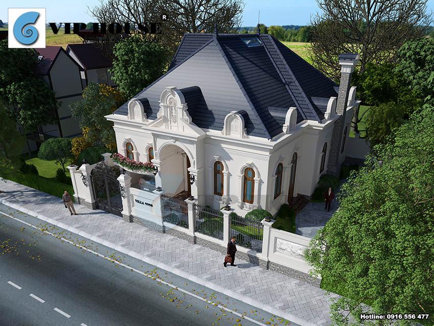 Biệt thự kiểu Pháp 1 tầng không thể không mê tại Thanh Hóa