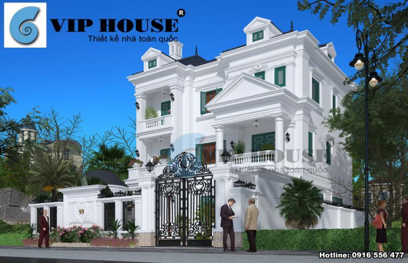 Đừng bỏ lỡ biệt thự kiểu Pháp 3 tầng tân cổ điển tại Ninh Bình