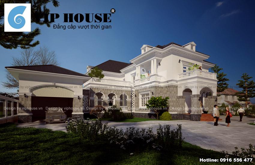 Biệt thự kiểu Pháp 2 tầng tại Quảng Ninh đẹp và sang trọng