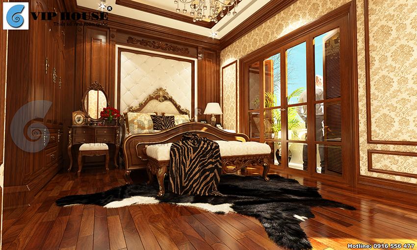 Không gian phòng ngủ đẹp cuốn hút với thiết kế nội thất tân cổ điển