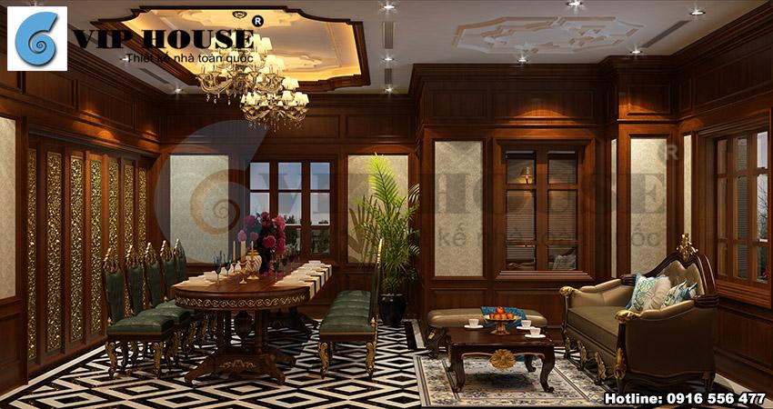 Thiết kế nội thất phòng ăn cho nhà hàng sang trọng