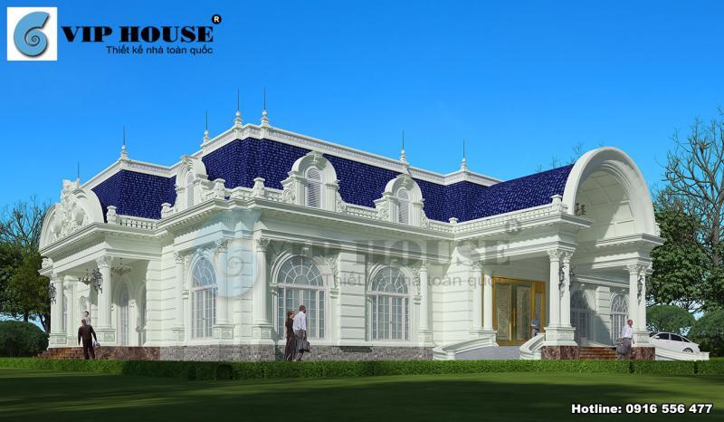 Học cách thiết kế nhà đẹp với biệt thự kiểu Pháp 1 tầng
