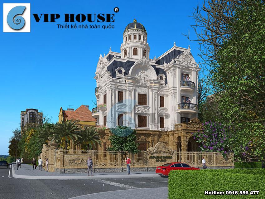 Thiết kế biệt thự kiểu Pháp lâu đài đẹp mãn nhãn tại Nam Định
