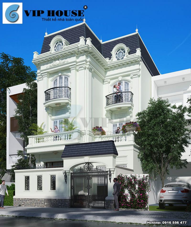 Biệt thự kiểu Pháp tân cổ điển đẹp tại Sài Gòn