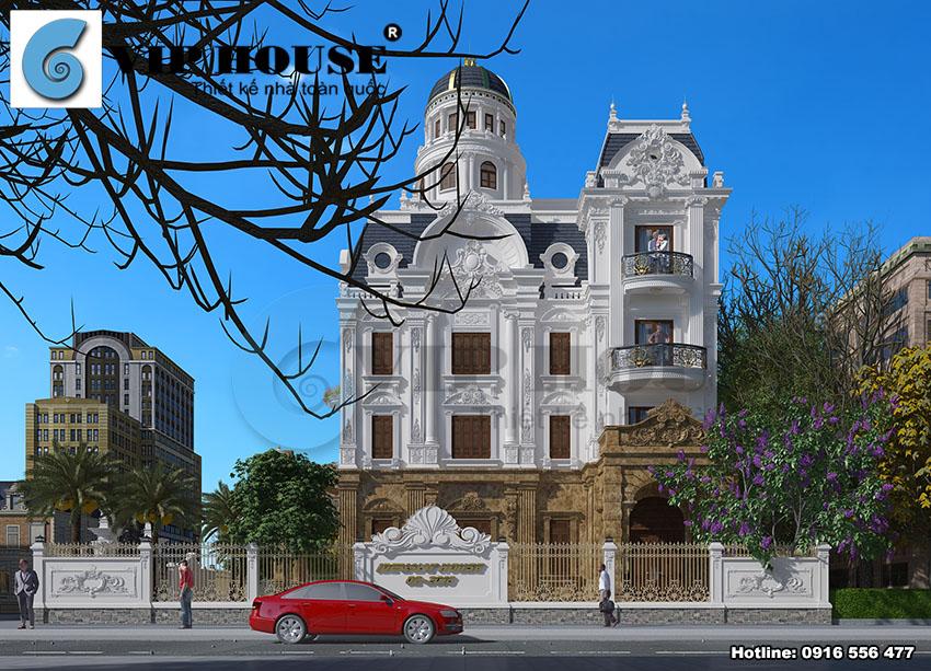 Đã mắt với thiết kế biệt thự kiểu Pháp lâu đài tại Nam Định
