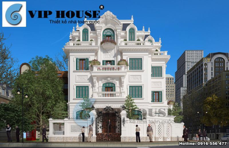 Mẫu thiết kế biệt thự kiểu Pháp ấn tượng tại Trung Yên - Hà Nội