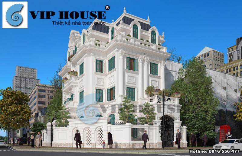 Bật mí hình ảnh của thiết kế biệt thự kiểu Pháp đồ sộ tại Hà Nội