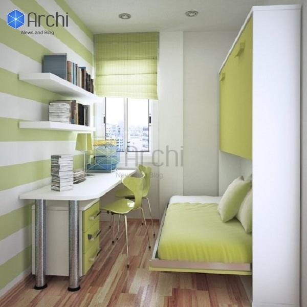Mẫu thiết kế phòng ngủ nhỏ 3m2 tiện nghi