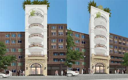 Cùng ngắm nhìn mẫu thiết kế nhà phố tân cổ điển đẹp hút hồn và sang trọng
