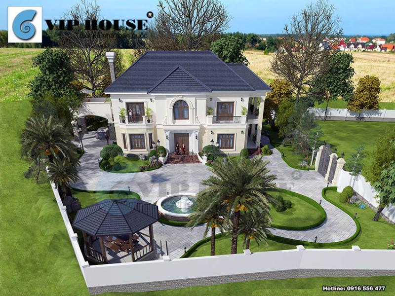 Biệt thự kiểu Pháp có sân vườn đẹp tại Phú Thọ