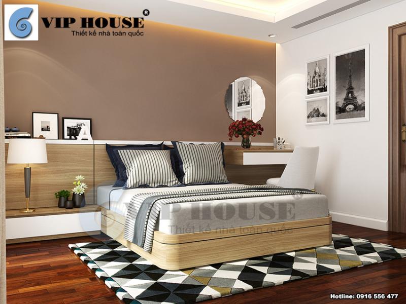 Thiết kế nội thất hiện đại đẹp mắt cho phòng ngủ gia đình