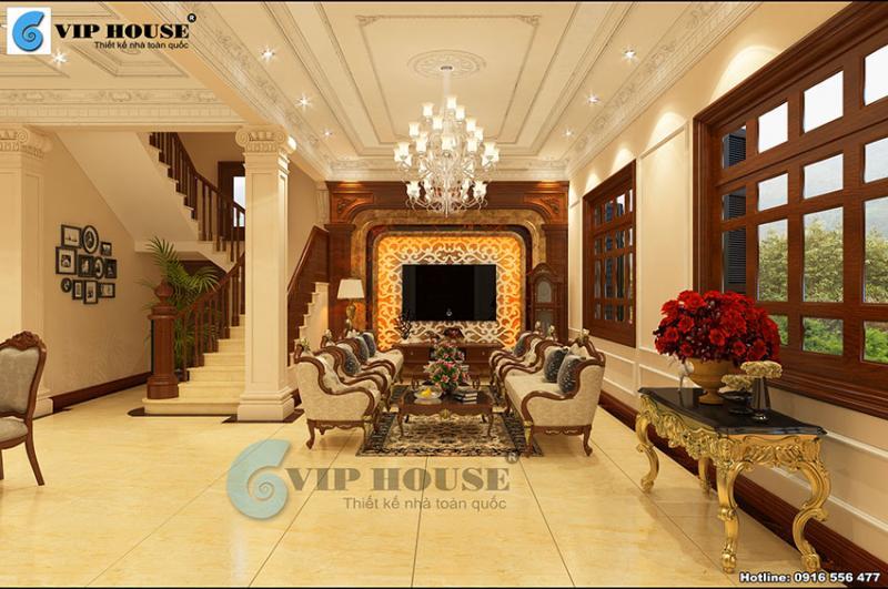 Chiêm ngưỡng không gian sống sang trọng từ mẫu thiết kế nội thất đẹp tân cổ điển