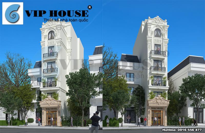 Thiết kế khách sạn đẹp mini ấn tượng tại Hà Nội