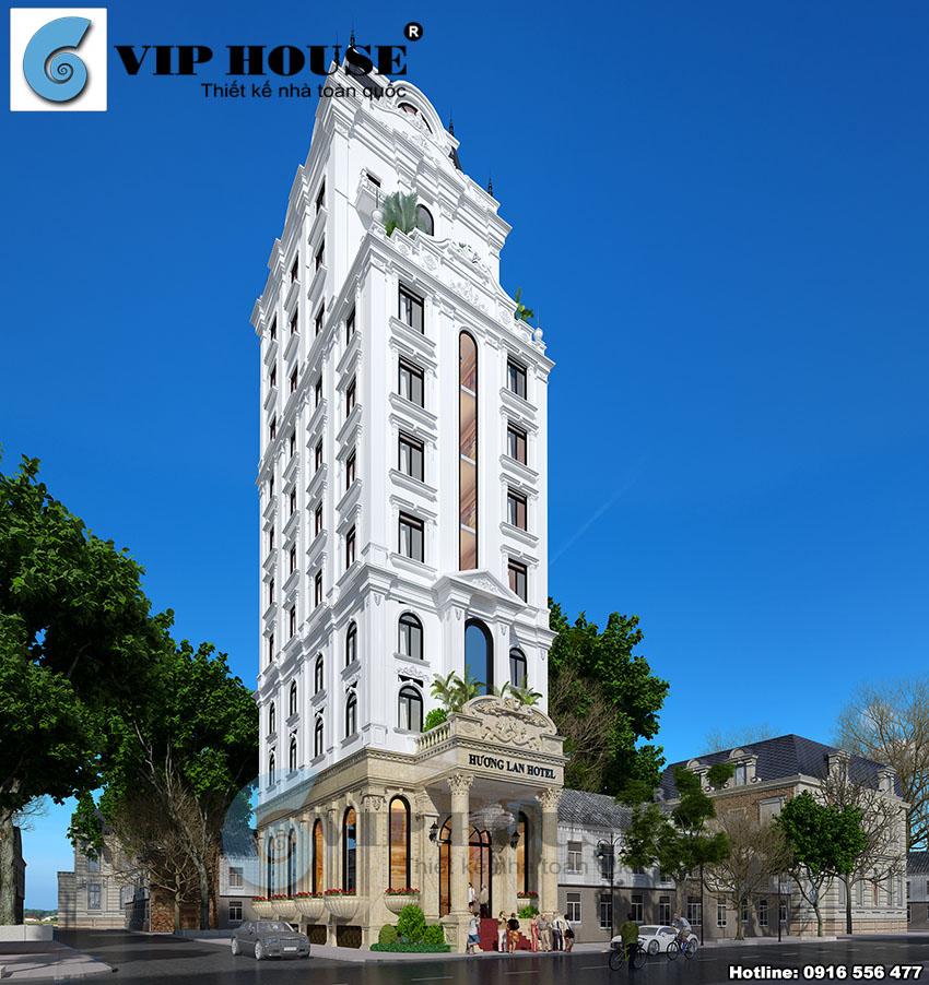 Tư vấn thiết kế khách sạn đẹp hai mặt tiền tại Ninh Bình