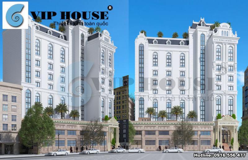 Thiết kế khách sạn đẹp trên nền đất hình chữ L