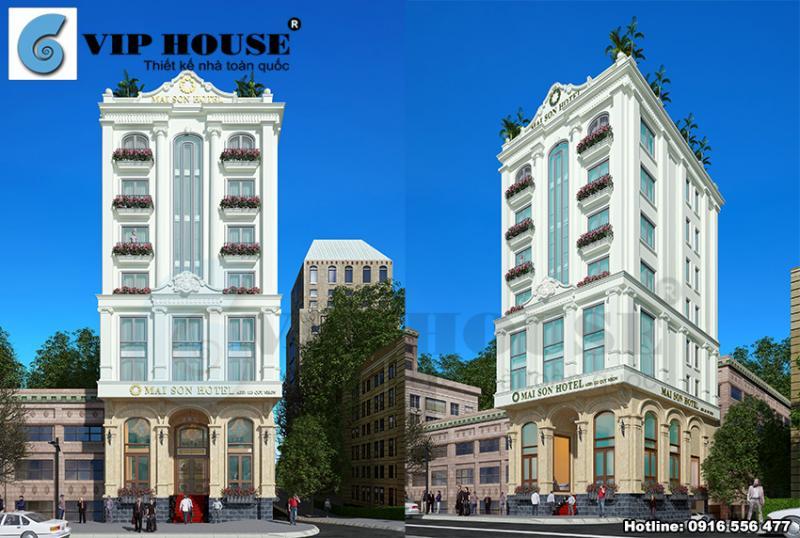 Phối cảnh của thiết kế khách sạn đẹp Mai Sơn Hotel