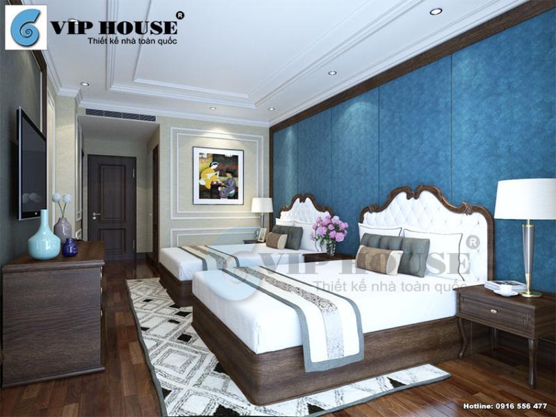 Cùng điểm qua những hình ảnh thiết kế nội thất phòng ngủ đẹp cho khách sạn 3 sao